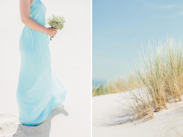 pastelowe kolory nadmorski plener ślubny