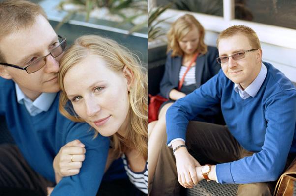 zdjęcia narzeczeńskie przy contrast cafe na bulwarze w gdyni