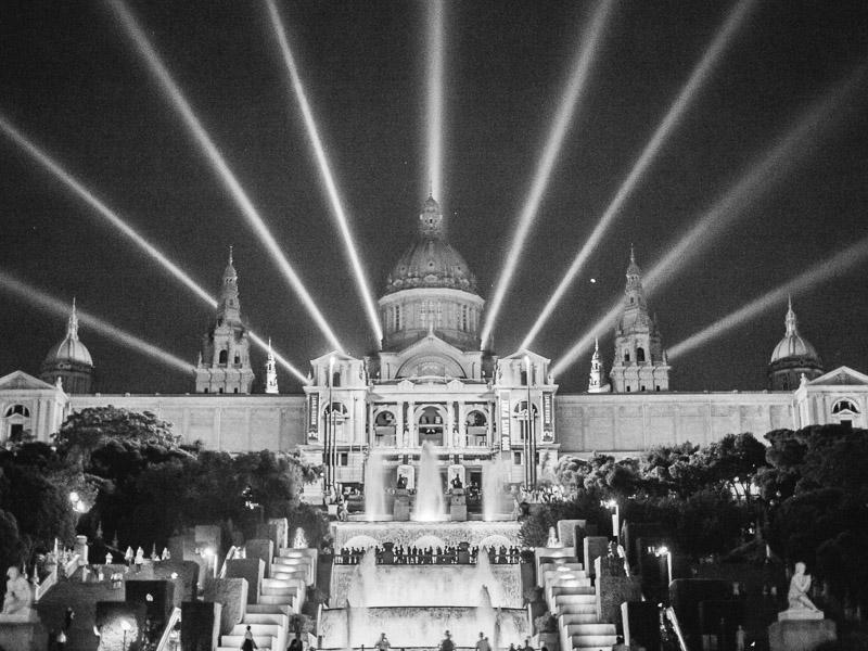 Barcelona Muzeum Sztuki Katalońskiej Fonta Magica Nocny pokaz