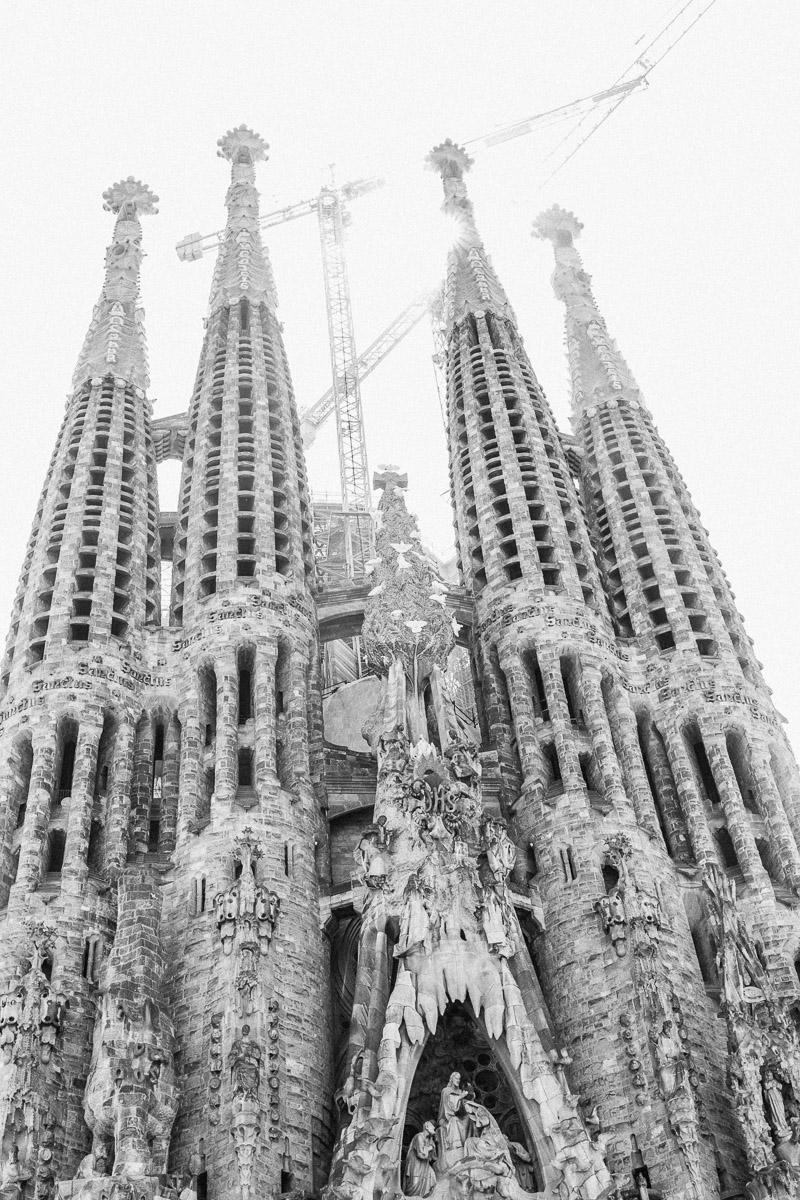 Barcelona Sagrada Familia w budowie