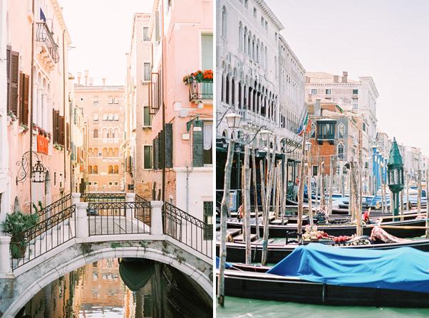 mosty i gondole w wenecji