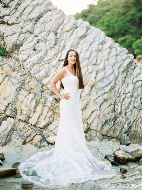 Suknia ślubna Cameoo Chorwacja Sesja Plener Zachód Słońca Plaża Fine Art Photography