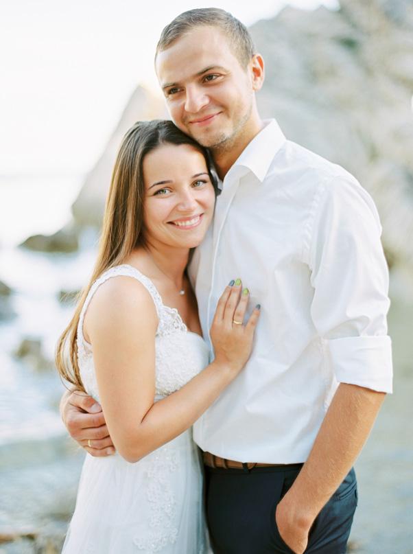 Sesja ślubna Państwo Młodzi Chorwacja Contax 645 Kodak Portra 400