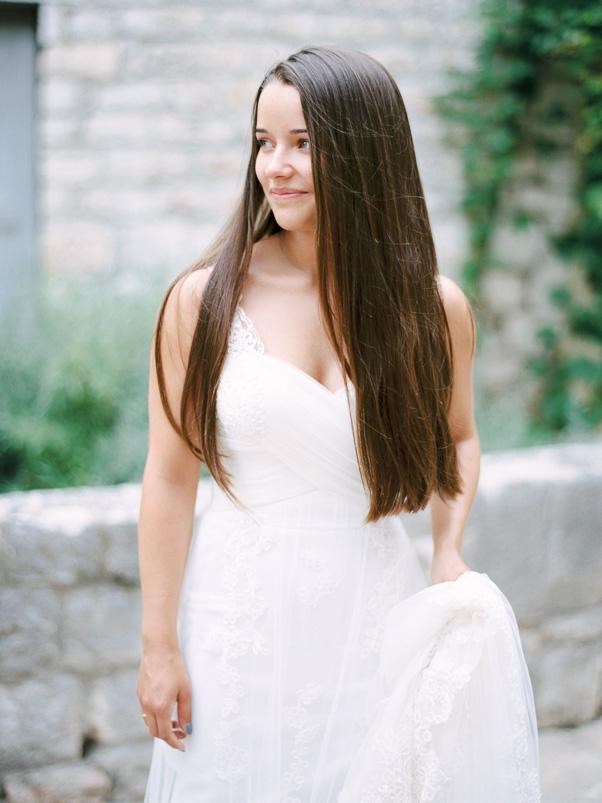 Zdjęcie ślubne portret panna młoda Chorwacja Stary Grad Kodak Portra 400